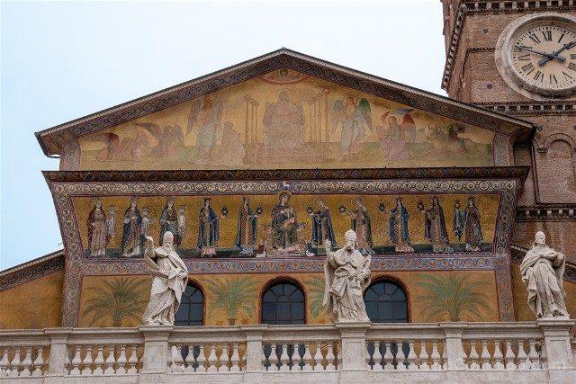 Que ver en Roma Basilica Santa Maria Trastevere Mosaicos
