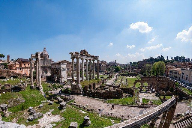 Que ver en Roma Plaza Campidoglio Vista Foro Romano