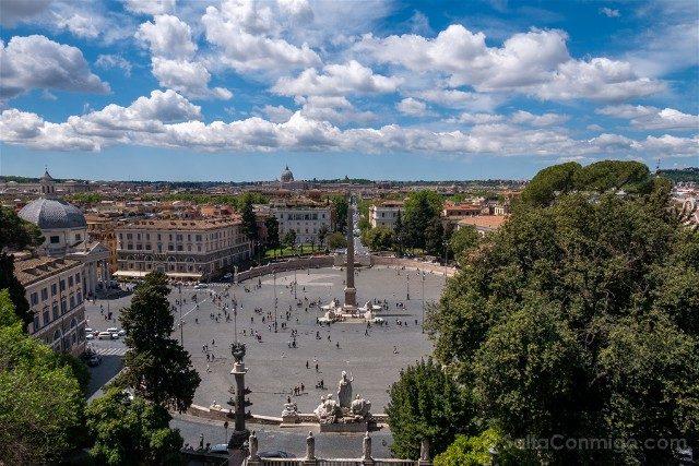 Que ver en Roma Plaza Pueblo Vista Pincio