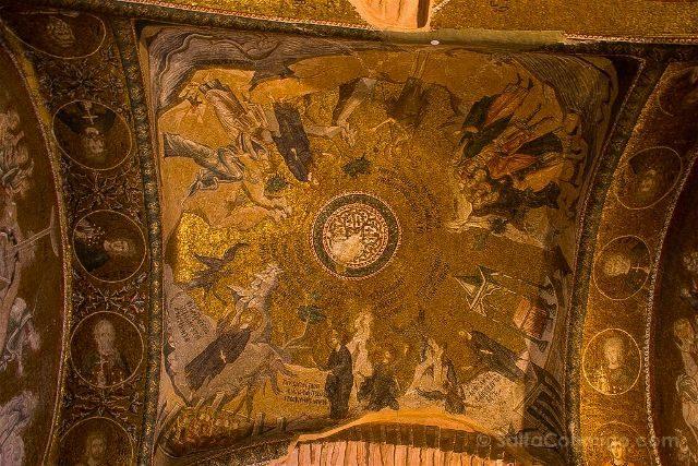 Turquia Estambul San Salvador Chora Kariye Camii Interior Cupula