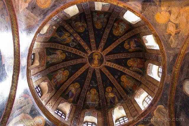 Turquia Estambul San Salvador Chora Kariye Camii Interior Virgen Maria Cupula