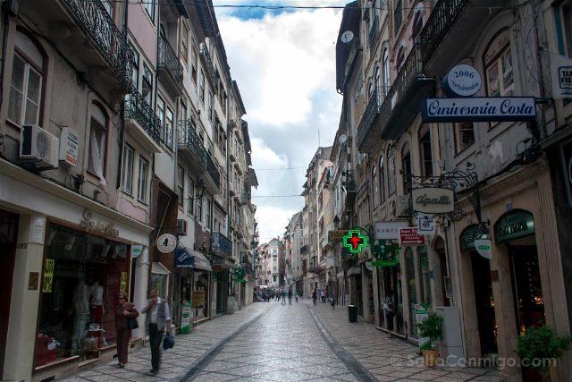 portugal coimbra calle centro