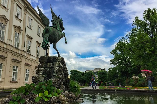 austria salzburgo escenarios sonrisas lagrimas palacio mirabell mirabellgarten pegaso