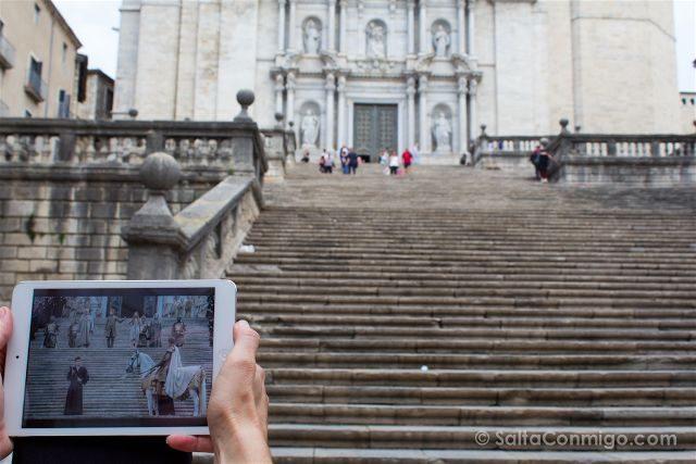 catalunya girona catedral escaleras juego de tronos