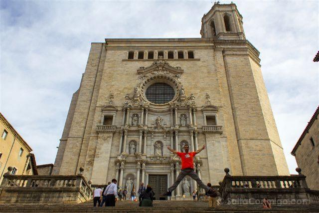 catalunya girona escaleras catedral salto