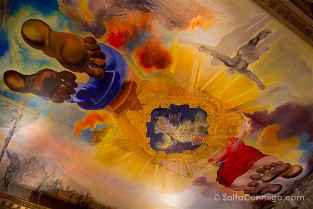 catalunya Provincia de girona figueres teatro museo dali techo