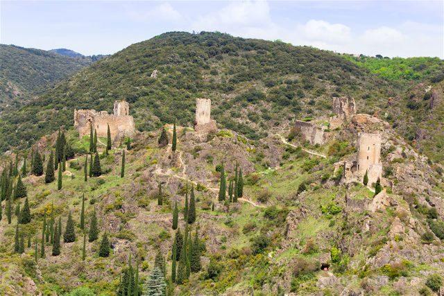 francia aude pais cataro castillo lastours panorama belvedere