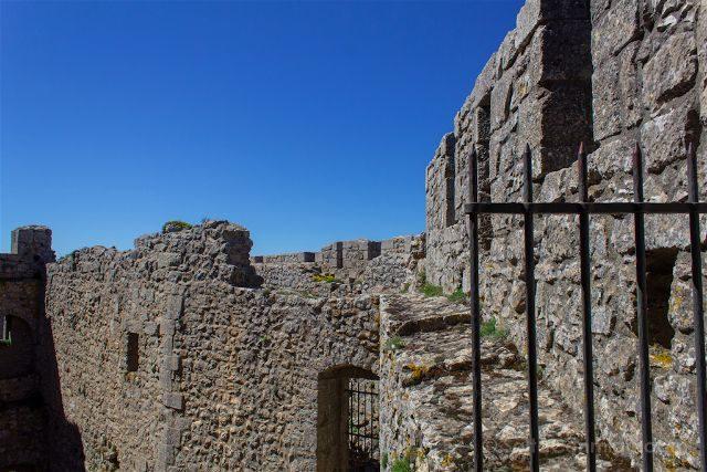 francia aude pais cataro castillo peyrepertuse murallas interior