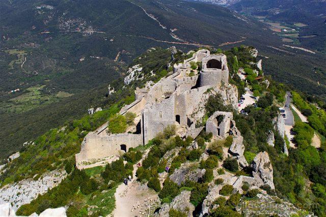 francia aude pais cataro castillo peyrepertuse recinto bajo