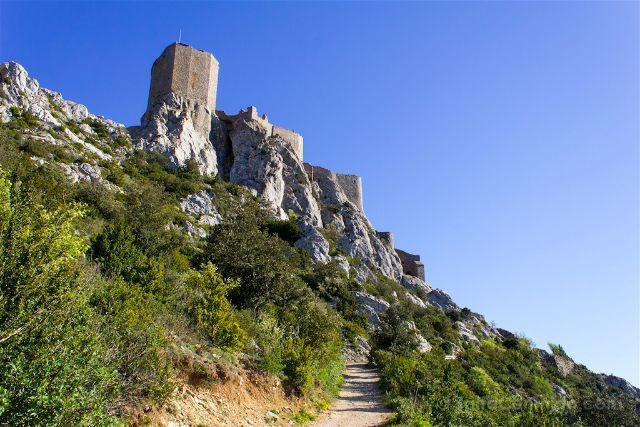 francia aude pais cataro castillo queribus acceso