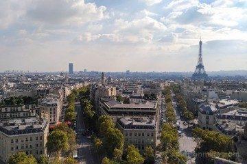 francia paris vista arco triunfo
