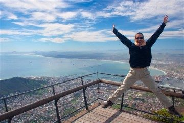 sudafrica ciudad del cabo cape town table mountain vista salto