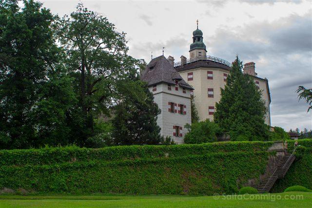 austria innsbruck castillo schloss ambras ventanas