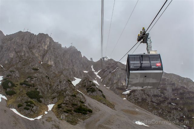 austria innsbruck panomara subida teleferico cabina
