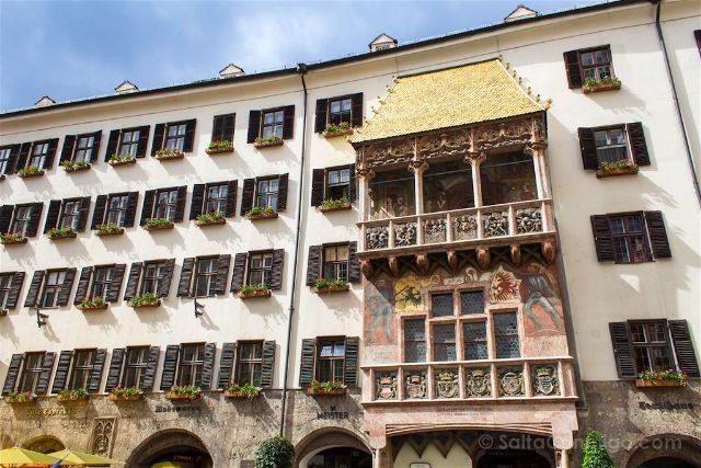 austria innsbruck tejadillo de oro goldenes dachl