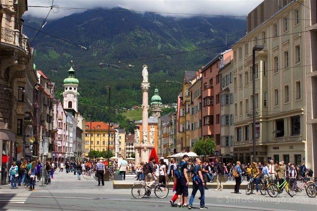 austria innsbruck tirol maria-theresien-strasse columna santa ana