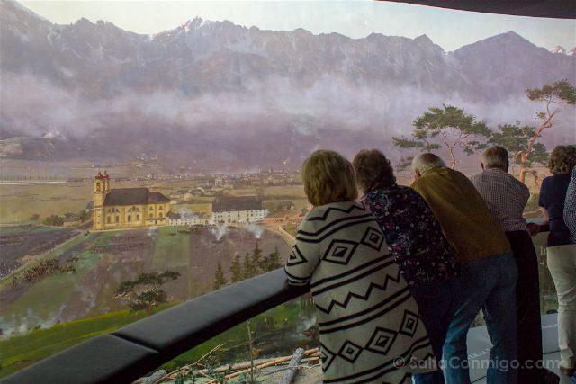 austria innsbruck tirol panomara panoramica cuadro