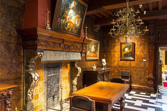 belgica flandes amberes casa museo rubens rubenshuis interior