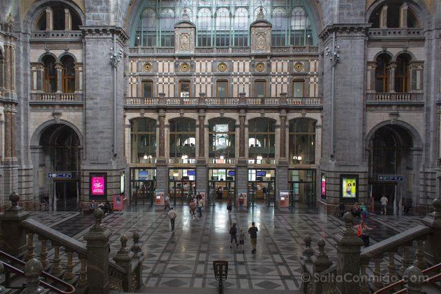 belgica flandes amberes estacion tren interior