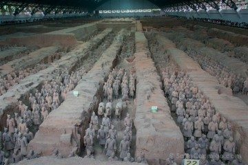 china xian guerreros terracota fosa uno