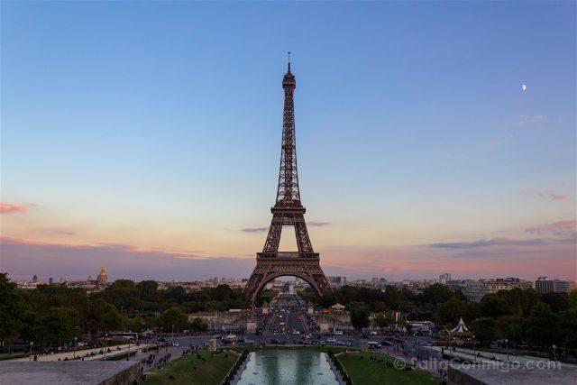 francia paris torre eiffel trocadero atardecer