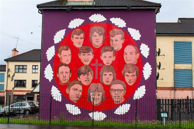 irlanda del norte derry londonderry murales bogside catolicos nacionalistas bloody sunday commemoration