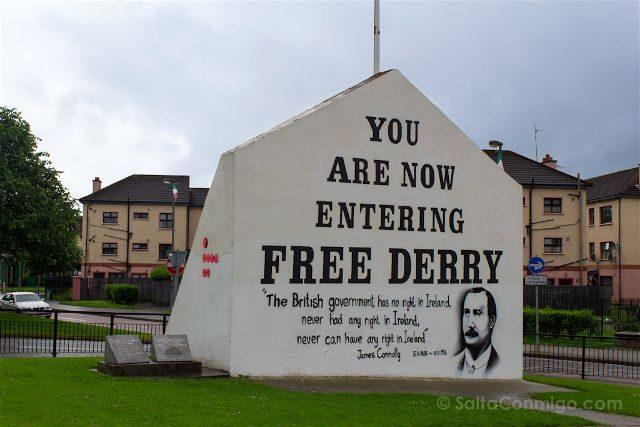 irlanda del norte derry londonderry murales bogside catolicos nacionalistas free derry