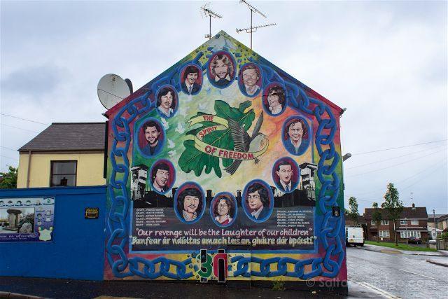 irlanda del norte derry londonderry murales bogside catolicos nacionalistas huelgas hambre