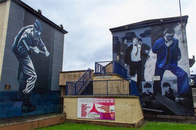 irlanda del norte derry londonderry murales bogside catolicos nacionalistas motorman the runner