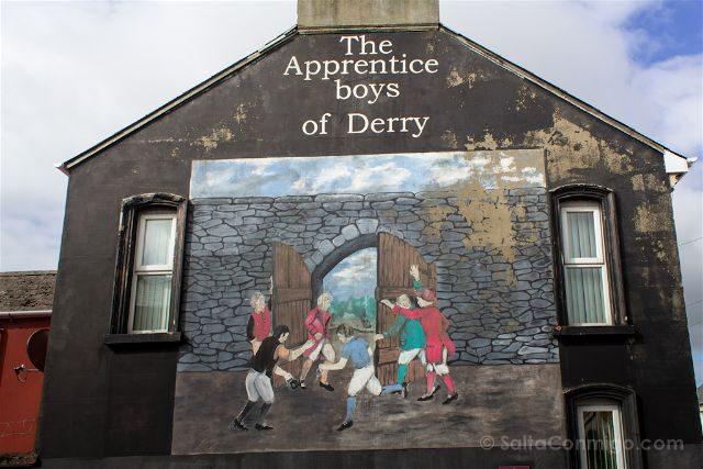 irlanda del norte derry londonderry murales bond st protestantes unionistas apprentice boys