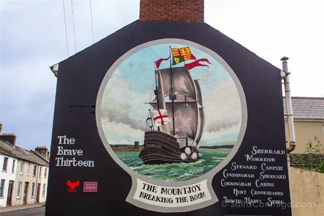irlanda del norte derry londonderry murales bond st protestantes unionistas the mountjoy