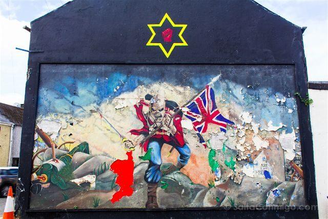 irlanda del norte derry londonderry murales bond st protestantes uinonistas uff mural