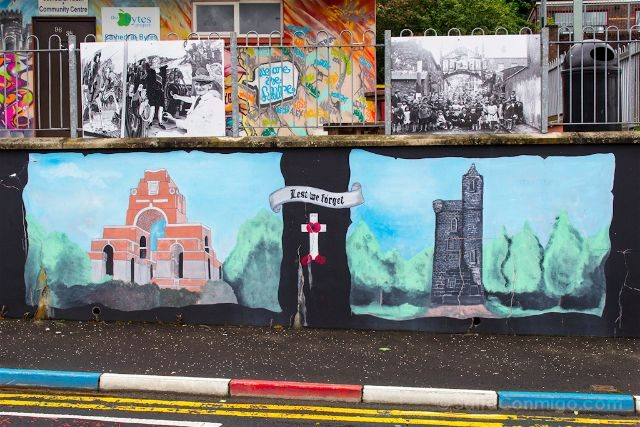 irlanda del norte derry londonderry murales the fountain protestantes unionistas