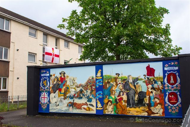 irlanda del norte derry londonderry murales the fountain protestantes unionistas battle of the boyne siege