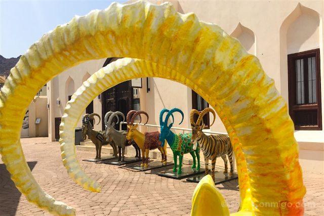 oman muscat mascate museo bait al zubair cabras
