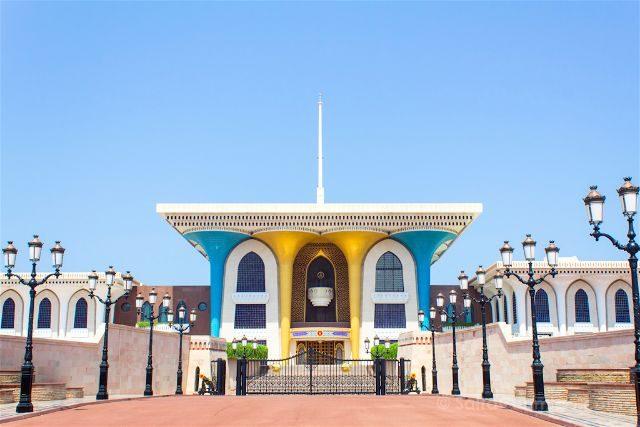 oman muscat mascate palacio al alam sultan