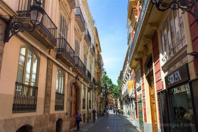 valencia calles casco historico