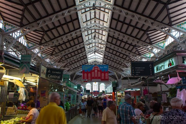 valencia mercado central pasillo interior