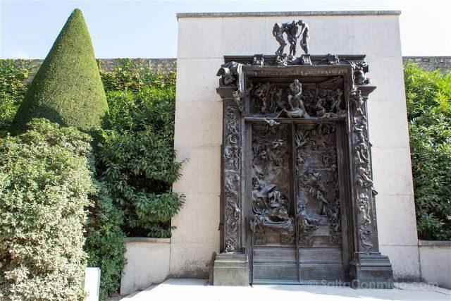 francia paris museo rodin jardin puerta infierno