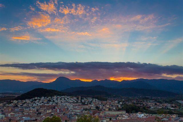 girona garrotxa olot puesta sol volcan