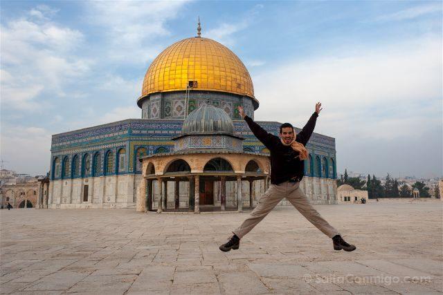 israel jerusalen explanada mezquitas monte templo salto