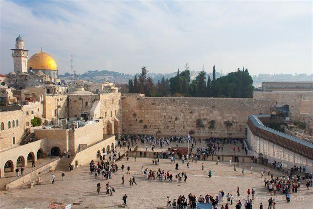 israel jerusalen muro lamentaciones cupula roca panorama