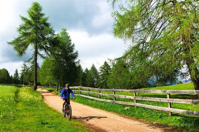 italia sudtirol alto adige san genesio jenesien altiplano salto bicicleta
