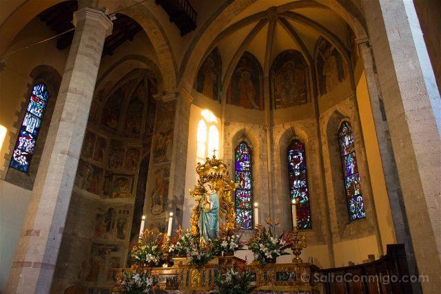 italia umbria gubbio iglesia san francesco frescos