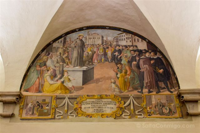 italia umbria gubbio palacio consoli frescos san francisco