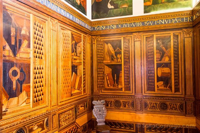 italia umbria gubbio palacio ducal studiolo
