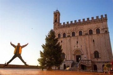 italia umbria gubbio plaza signoria salto