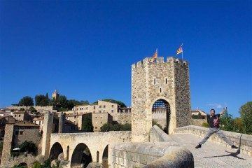 Catalunya Girona Besalu Puente Salto