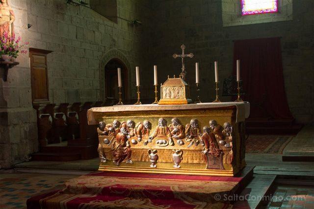 Francia Pays Catare Abadia Lagrasse Canonigos Altar Iglesia Abacial