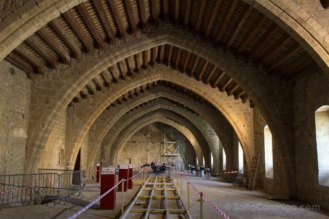 Francia Pays Catare Abadia Lagrasse Estatal Dormitorio